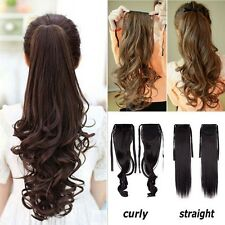 US Long Clip In Hair Extension Ponytail As Human Pony Tail Hair Piece BarbieH914