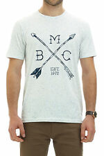 New Barkers Mens T-Shirts Fort Print Tee PEARL