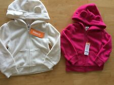Gymboree Polar Pink Fleece Jacket Ears Pink or White 12 24mo 2T 3T NEW
