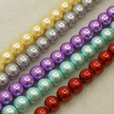 "20 strands 32"" Glass Pearl Beads Strands Round Mixed Color 4mm 6mm 8mm 10mm"