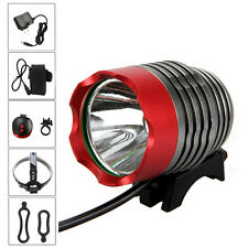 Waterproof 5000LM XML U2 LED Head Front Bicycle Bike Light Lamp Headlamp+6400mAh
