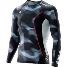 NEW Skins DNAmic Glitch Camo Training Top Mens Long Sleeve Compression Shirt