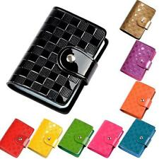 Men Women Patent Leather Credit Card Holder Package Folder Card Case Coin Purse