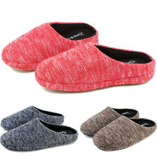 Mens Womens Ladies Antislip Indoor Bedroom Cotton Casual Slippers Shoes Mules