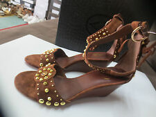 ASH Dido wedge 5cm Baby silk camel NEW Val E Sizes 36,37,40