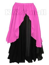 Women Maxi Skirt For Belly Dancing Tribal GYPSY Boho Skirt 2 Layer Skirt Long