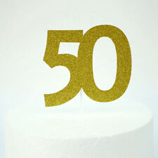 50th Birthday Cake Topper Party Accessories - Fifty Party Decorations