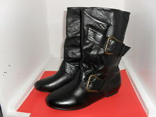 Ladies Spot-on F4260 Black Side buckle boot Sizes 3x8 (R1A)