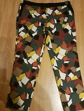 ****BRAND NEW RIVER ISLAND WITH LABELS Cigarette trousers size 16 multi coloured