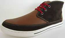Lambretta Mens Casual Hi-top Chief Dark Brown/Tan UK sizes 6 x 10 (GO)