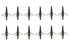 "100Grain Cut 1.75"" Black Swhacker Broadheads For Compound bow and Crossbow"