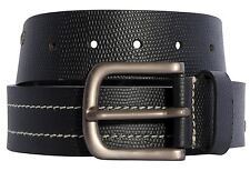New Mens White Stitched Stud Design Genuine Leather Buckle Belts S-3XL