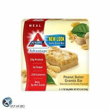 Atkins Nutritionals - Advantage Meal Bars, 5 bars High Protein Snack Free P&P