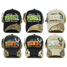 Outdoor Fishing Fish Hunting Hunter Hat Camo Camouflage Baseball Cap Ball Caps