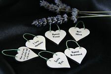 LITTLE HEART SIGN & GIFT TAG-*YOUR OWN TEXT*-  PERSONALISED*BIRTHDAY*WEDDING**