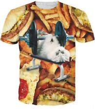 2016 HotNew Fashion Womens/Mens Burger Kitten Cool 3D Print Casual T-Shirt CM395