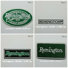 Remington Sew On Patch Iron Embroidered Badge Firearms Weapons Pistol Rifle Gun