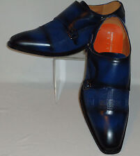 Mens Cool Blue Hounds Tooth Stamped Dress Loafers Shoes Antonio Cerrelli 6670