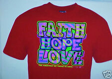 FAITH HOPE LOVE CHRISTIAN GIRL T-SHIRT~ FAITH HOPE LOVE ~SIZE SELECT ~SHIRT RED