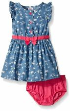 GYMBOREE Island Hopper Baby Toddler Girl Chambray Denim Butterfly Dress Set NWT