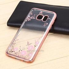 Ultra Thin Clear Crystal Diamond Soft TPU Plating Case Cover For iPhone Sam