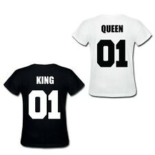 King & Queen T Shirt Tee Romantic His Her Couple Cute Wedding Hers Gift