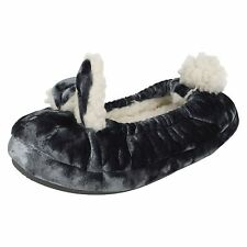 Junior Girls Clarks Rabbit Slippers 'Pretty Toes'