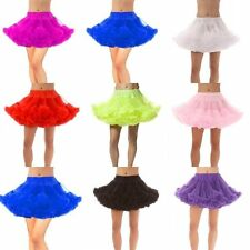 New Women's Short Bridal Petticoat Crinoline Underskirt Tutu Dance Skirt Slip