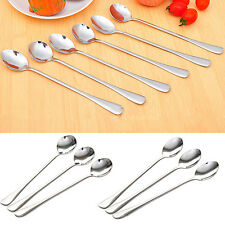 Long Handle Stainless Steel Coffee Spoon Ice Cream Spoons Cutlery Intriguing