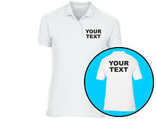 Your Text Personalised Womens Polo Shirt Workwear (6 Colours)