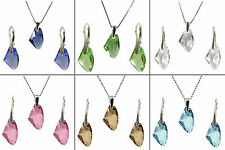 GALACTIC CRYSTAL STERLING SILVER SET (VAR. COLOURS) made with SWAROVSKI® Crystal