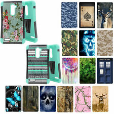 For ZTE ZMAX Pro Z981 / ZTE Carry TEAL Hybrid Combo Kickstand Cover Case