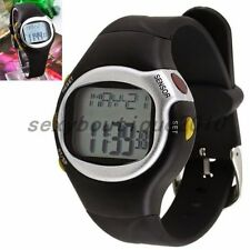Exercise Training Pulse Heart Rate Monitor Calories Counter Fitness Wrist Watch