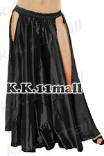 Belly Dancing Satin Two Side Slit/cut Skirt For Women Sexy Skirts Dance Dresses