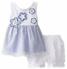 SWEET HEART ROSE Baby Girls Flower Tunic Top Soutache Bloomer Set Ruffle Outfit