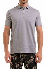 New Barkers Mens Casual Shirts Austwell Polo GREY MARL NAVY