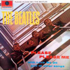 "THE BEATLES PLEASE PLEASE ME VINYL LP RECORDS 12"" ORANGE PARLOPHONE"