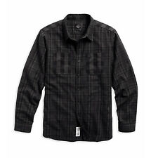 Genuine Harley-Davidson Mens Black Label Brushed Flannel Shirt 96195-16VM