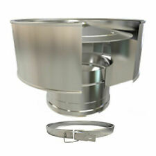 Twin Wall Flue Pipe Stainless Steel  for use with wood burning, multifuel stoves