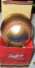 24Kt Rawlings Gold Baseball-Dodgers, Reds, Braves, Giants, Cardinals, and others