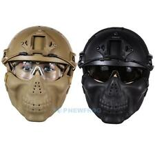 Military Tactical Airsoft Paintball Helmet + Mask + Goggle for Hunting CS Game