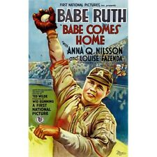 BABE RUTH COMES HOME VINTAGE BASEBALL MOVIE POSTER 1927  MOVIES