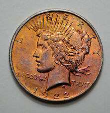1922-D TONED Peace Dollar  US Silver Coin , No Reserve !!You Grade It !!!!