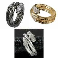 Fashion & Special Gold Silver Snake Sparkly Crystal Stretch Bracelet For Women