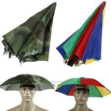 Watermeion Foldable Sun Umbrella Hat Golf Fishing Camping Headwear Cap Head Hat