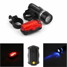 Waterproof Bright 5LED Bike Bicycle Front Head Light & Rear Safety Flashlight SY
