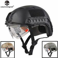 Military Airsoft Combat Helmet EMERSON Tactical FAST Helmet BJ Type with Goggle