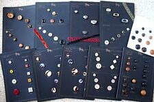 Choice of Designer Fashion Buttons Display Sample Card Tiger Button Wholesale Co