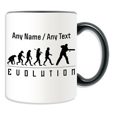 Personalised Gift Cricket Mug Money Box Cup Evolution Design Team Player Name
