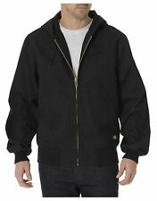 "Men""s Dickies TJ250 Sanded Duck Thermal Lined Hooded Zipper Jacket Med-2X NWT"